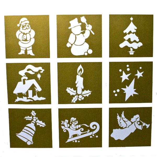 Christmas stencils pack time uk