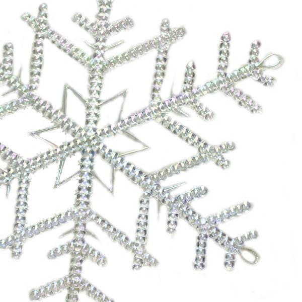 Iridescent Transparent Snowflake Hanger - 18cm (036-26049-18)