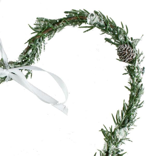 Green Pine Hanging Heart - 25cm