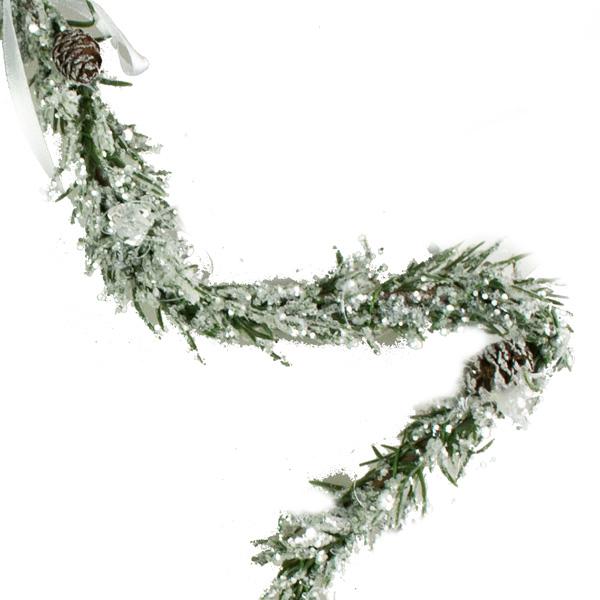 Green Pine Hanging Star - 25cm
