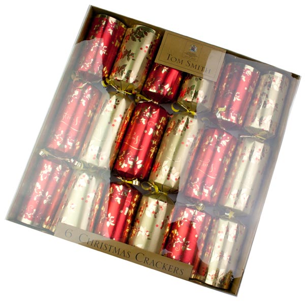 Tom Smith Red & Gold Leaf Crackers - 6 X 12.5