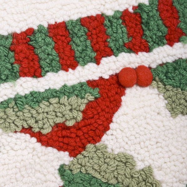 Gisela Graham Woolly Holly & Check Stocking - 45cm