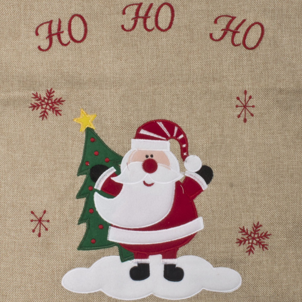 Santa Cute Character Jute Santa Sack - 70cm X 50cm