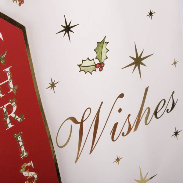 Christmas Wishes Foil Finish Medium Gift Bag