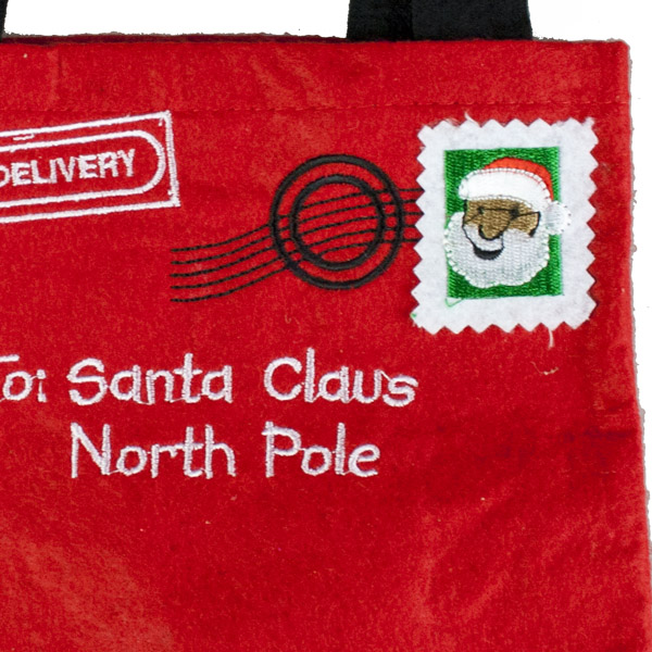 Gisela Graham Santa Design Letter To Santa Felt Gift Bag
