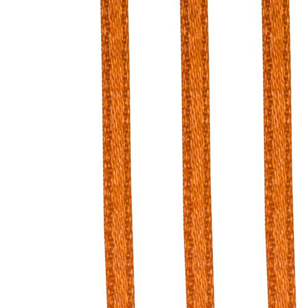 Dark Orange Double Face Satin Ribbon - 50m x 3.5mm