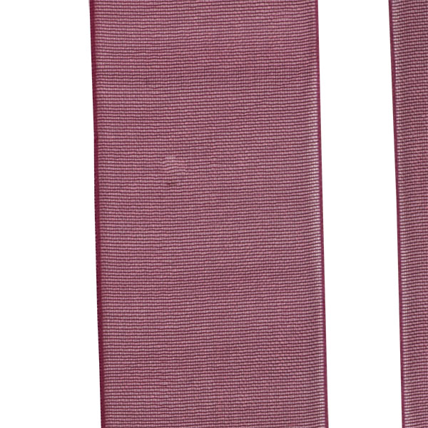 Bordeaux Red Organza Woven Edge Ribbon - 25m x 25mm