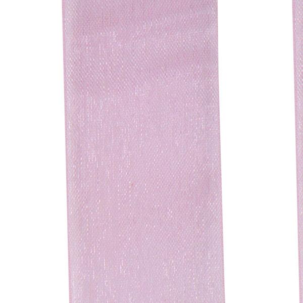 Rose Pink Organza Woven Edge Ribbon - 25m x 25mm