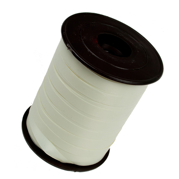 Ivory Poly Plain Ribbon -25m x 10mm
