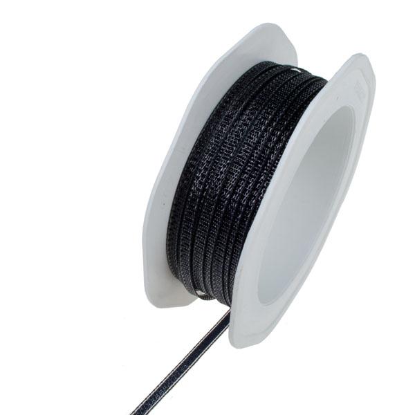 Black Metallic Ribbon - 20m x 4mm