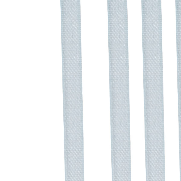 Light Blue Organza Woven Edge Ribbon - 3mm X 50m