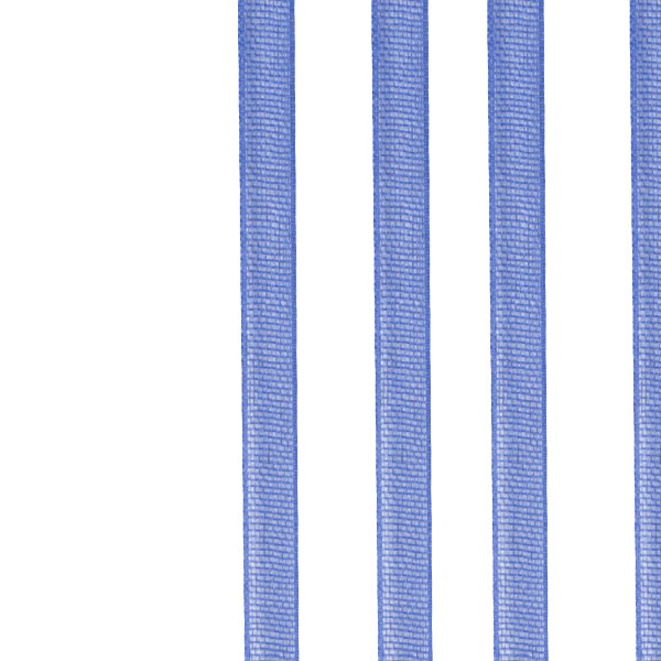 Royal Blue Organza Woven Edge Ribbon - 3mm X 50m