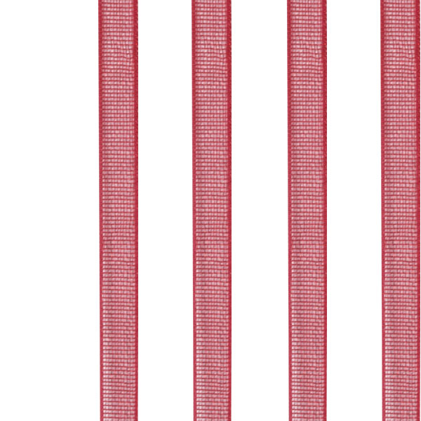 Red Organza Woven Edge Ribbon - 3mm X 50m
