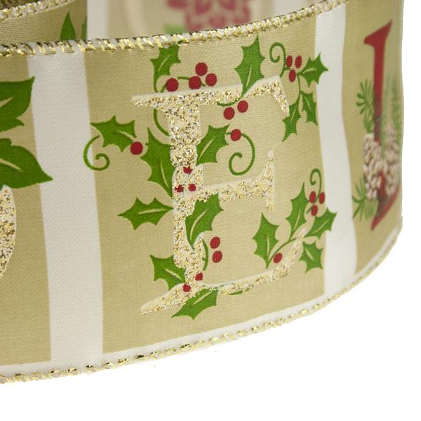 Noel Christmas Ribbon - 6cm x 2.7m