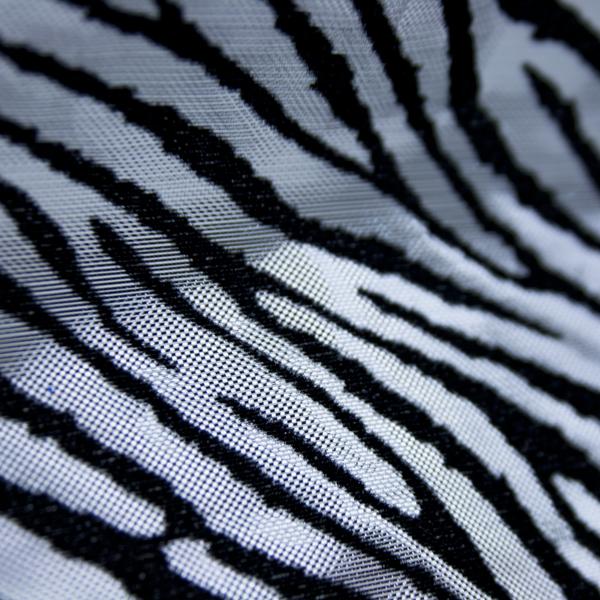 Silver & Black Tiger Print Ribbon - 10cm x 9m
