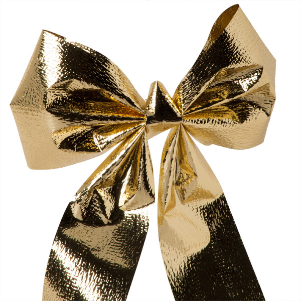 Gold Metallic Bow Decoration - 15cm