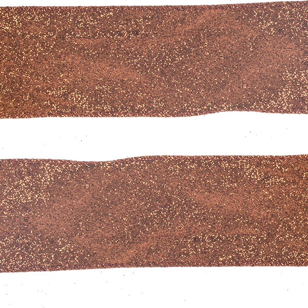 Roll Of Copper Glitter Christmas Ribbon - 6cm X 2.7m