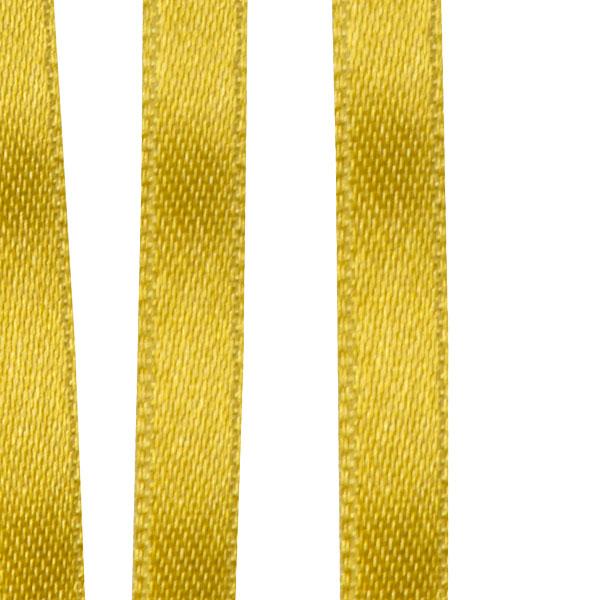 Light Gold Double Face Satin Ribbon - 50m X 6.5mm