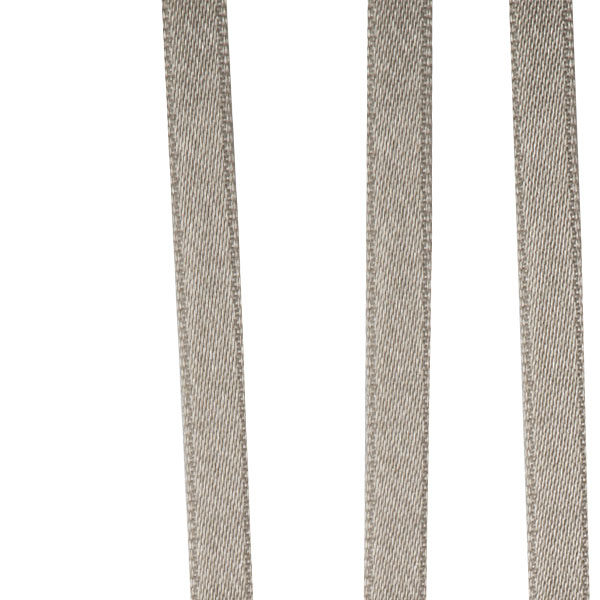 Taupe Double Face Satin Ribbon - 50m X 6.5mm
