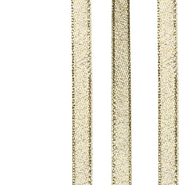Gold Glitter Organza Ribbon - 25m x 6mm