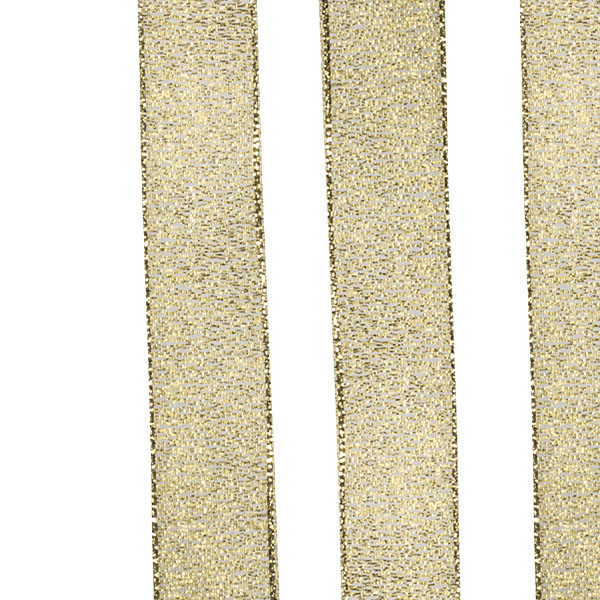 Gold Glitter Organza Ribbon - 25m x 15mm
