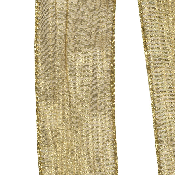 Wire Edge Christmas Ribbon Gold silver Crinkle 38mm New