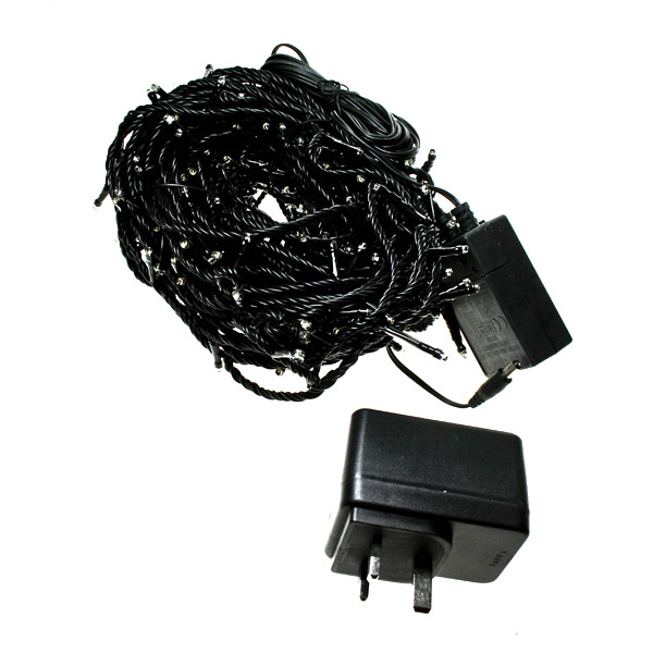 Konstsmide 22m Length Of 320 Soft White Multi Function Outdoor Micro LED Fairy Lights. Black Cable.