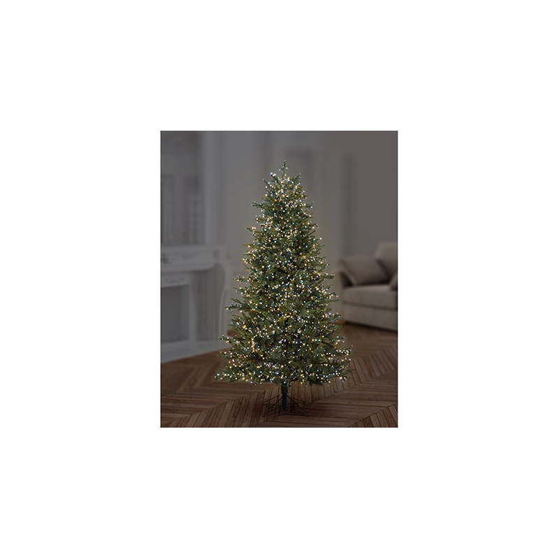 Premier 1000 White & Warm White Mix Treebrights Multi Action LED Fairy Lights On Green Cable With Timer