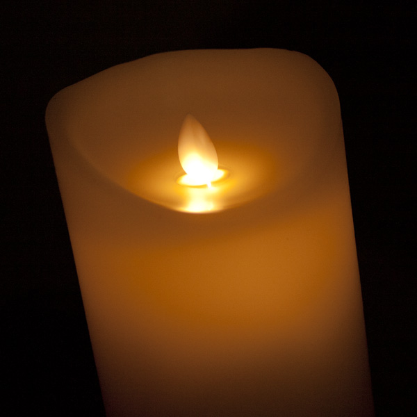 Battery Operated LED Dancing Flame Cream Candle - 23cm (122-27286)