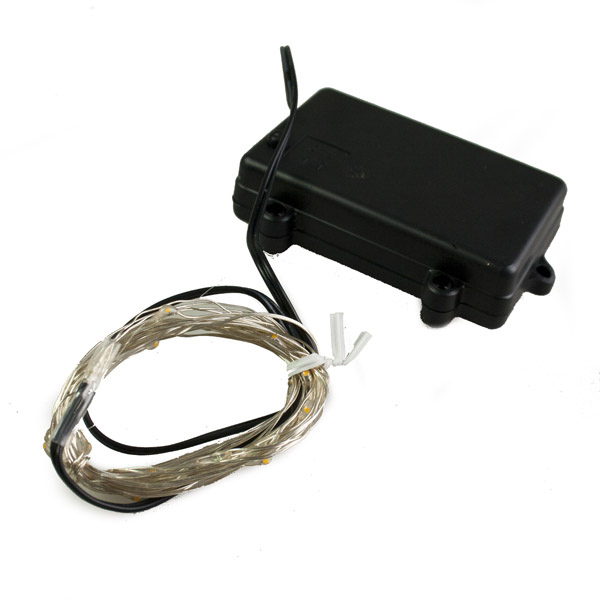 Premier 50 Indoor & Outdoor Waterproof Static 5m Set Of Battery Operated Multi Coloured LED Fine Wire Lights With Timer