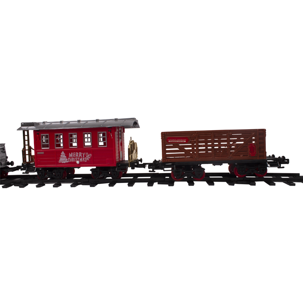 Battery Operated Christmas Train Set - 24 Pieces