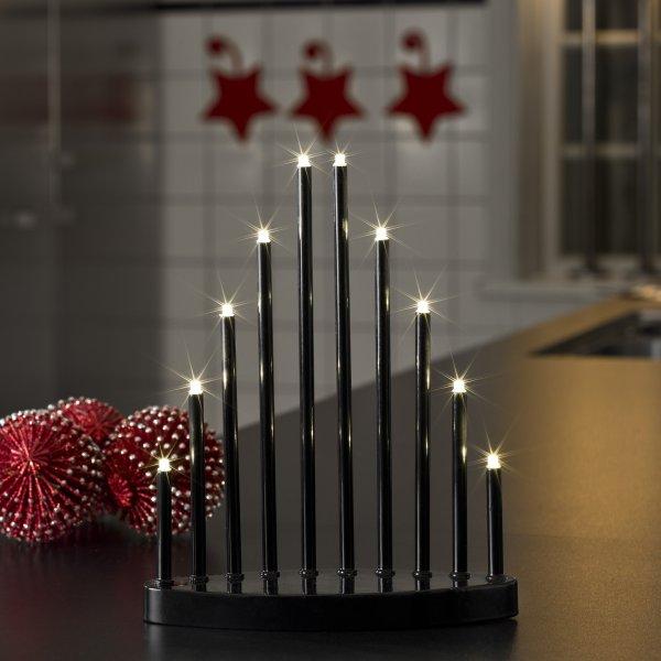 konstsmide 25cm x 20cm static indoor black lacquered metal. Black Bedroom Furniture Sets. Home Design Ideas