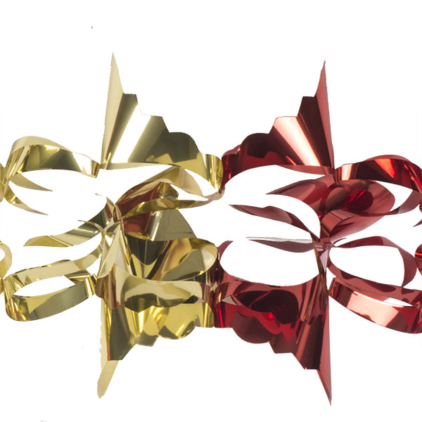 Red & Gold Foil 6 Section Garland - 2.7m X 20cm