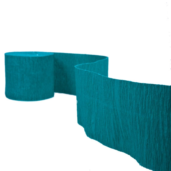 Green Crepe Paper Streamer - 10m