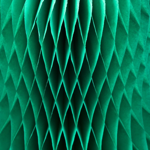 Green Flame Resistant Honeycomb Paper Bell - 40cm