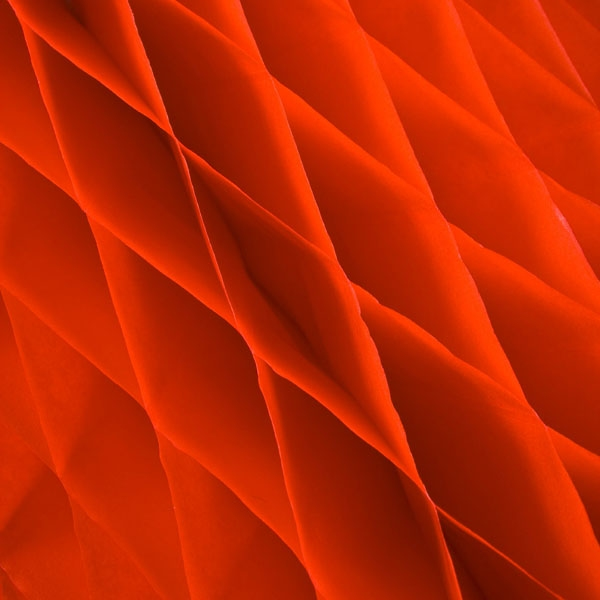 Red Flame Resistant Honeycomb Paper Bell - 50cm