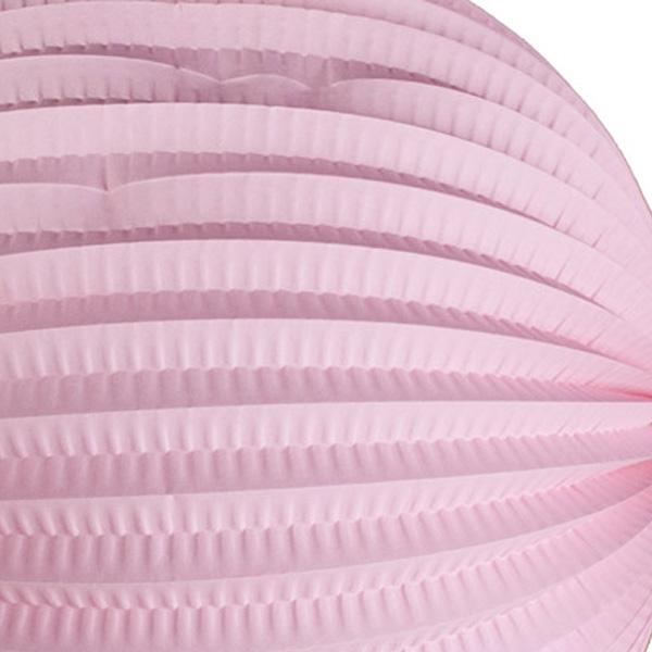 Pink Flame Resistant Round Paper Lantern - 31cm