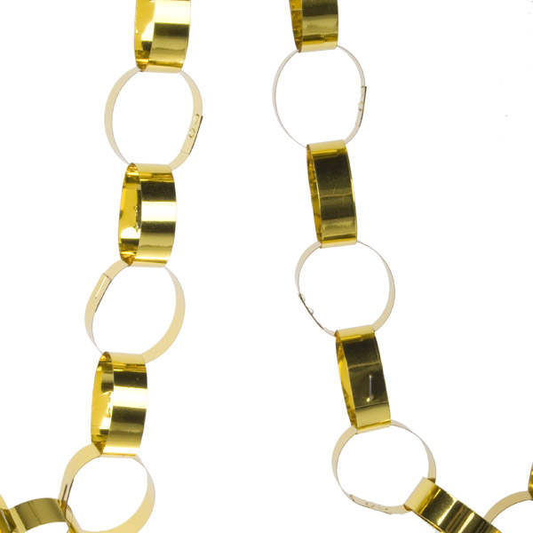 Gisela Graham Gold Foil Paper Chain - 180cm (201-15686-GD)