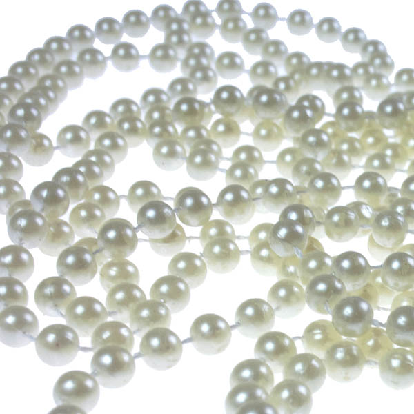 Cream Bead Chain Garland - 8mm x 10m