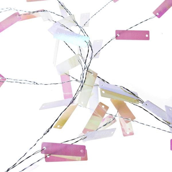 Iridescent White Sequin Garland - 1.8m