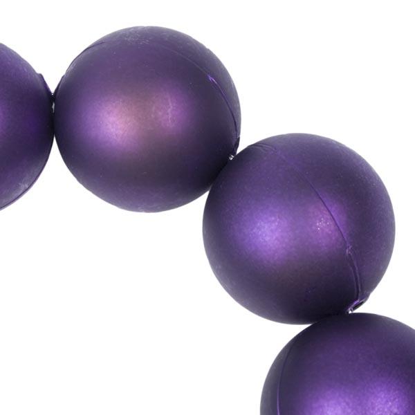 Purple Matt Bead Chain Garland - 180cm