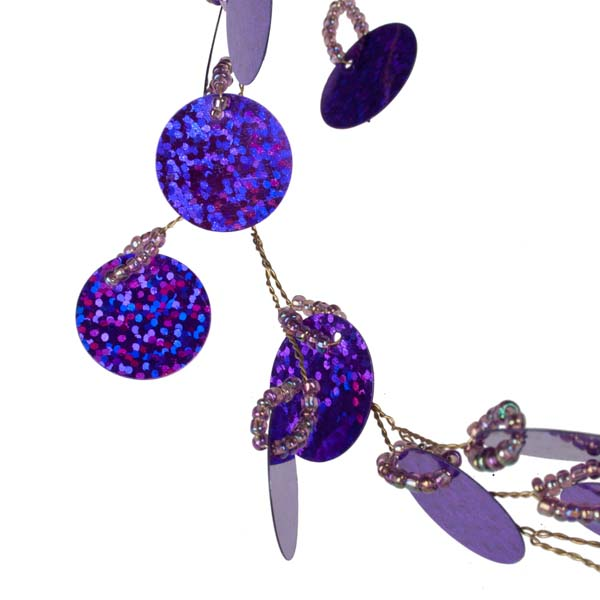Purple Sequin Disc Garland - 1.8m