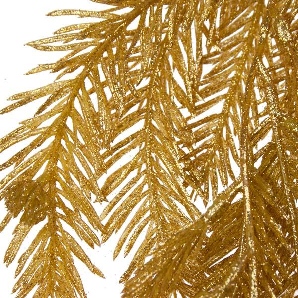 Glittered Gold Fir Pine Garland - 1.9m