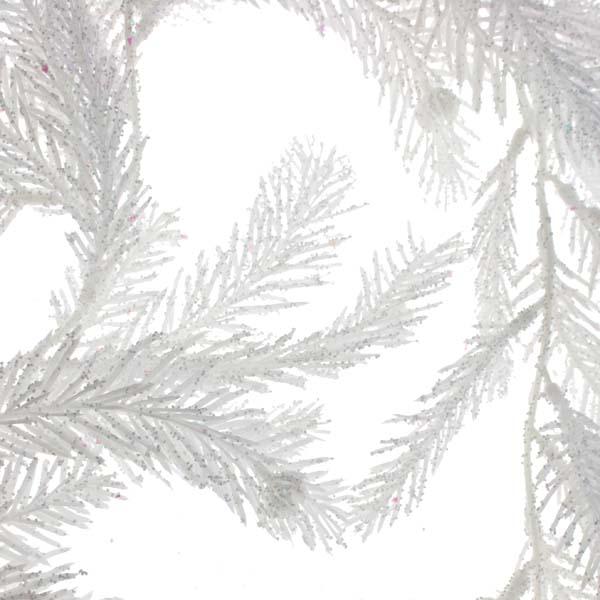 Glittered White Fir Pine Garland - 1.9m