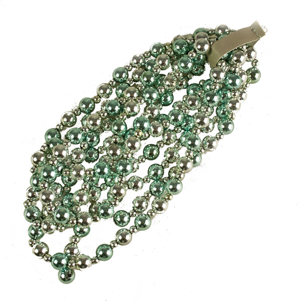 Turquoise & Silver Bead Garland - 2.4m