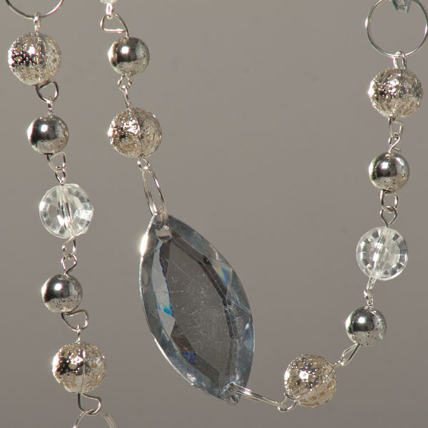 Clear 1.2m Acrylic Diamond Drop Garland  - Design 1