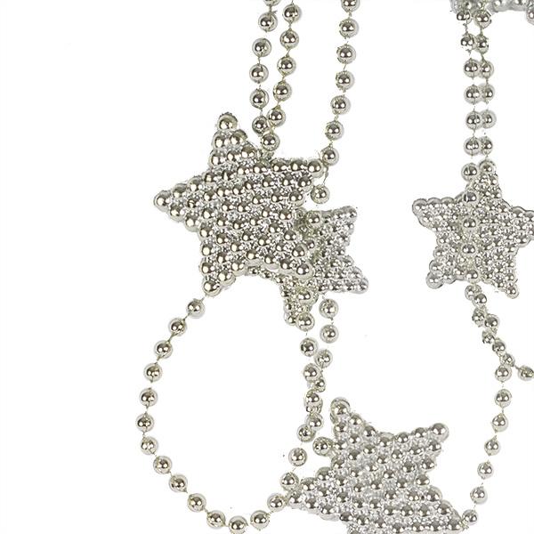 Decorative Silver Star Garland - 2.7m