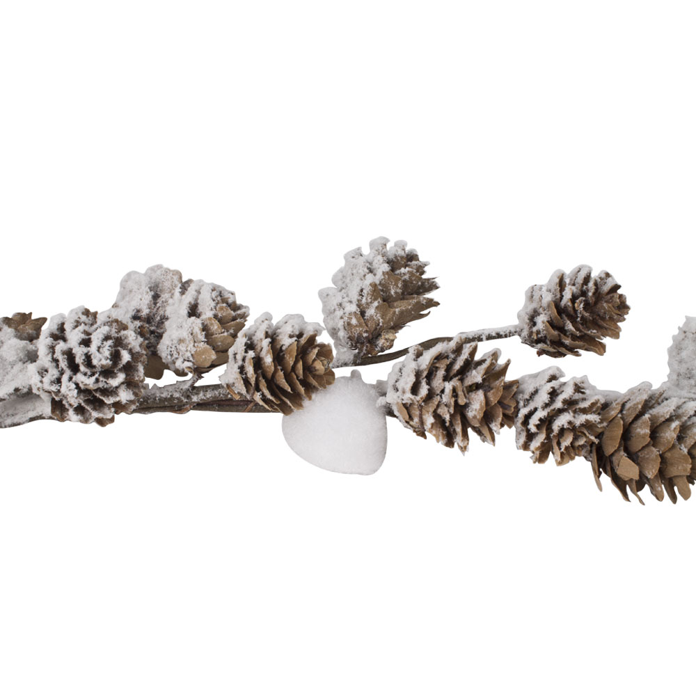 Pinecone & Snowball Garland - 130cm