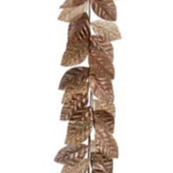 Rose Gold Magnolia Leaf Garland - 145cm