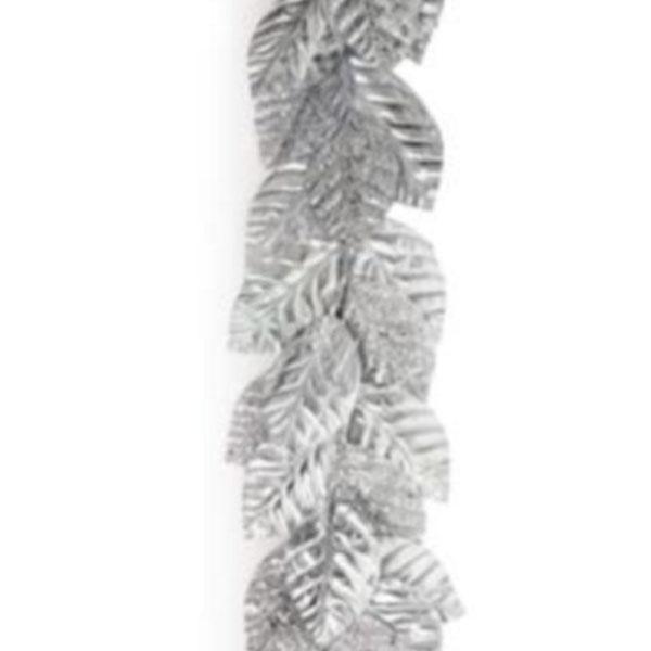 Silver Magnolia Leaf Garland - 145cm
